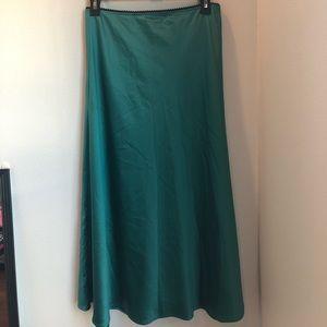 Zara Turquoise/Blue Midi Skirt - Size S